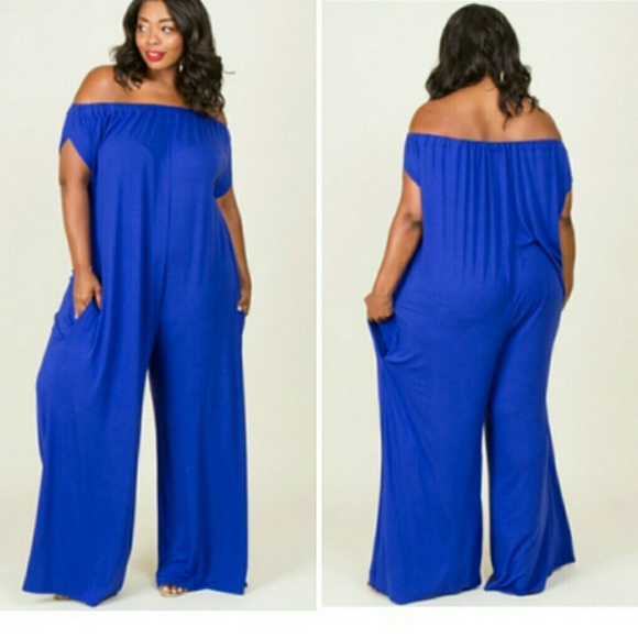 Royal Blue Plus Size Jumper 1x and 2x